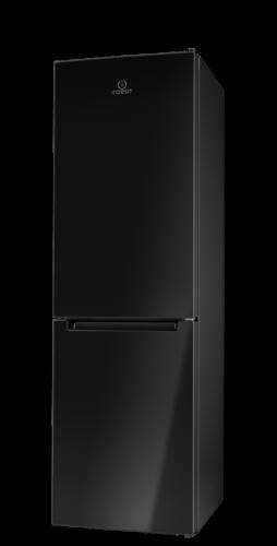 Indesit LI8 FF2 K kétajtós hűtő-fagyasztó, A++, 189cm magas, 60széles, alul fagyasztós, NoFrost