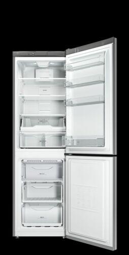 Indesit LI8 FF2 X.1 INOX kétajtós hűtő-fagyasztó, A++, 189cm magas, 60széles, alul fagyasztós, NoFrost