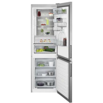 AEG RCB732E5MX alulfagyasztós NoFrost kombinált hűtőszekrény, 186 cm, 230/94 l, Cooling 360°, CustomFlex, TwinTech