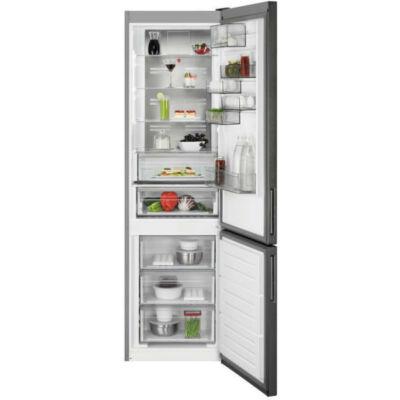 AEG RCB736E5MB szabadonálló, kombi hűtőszekrény, NoFrost, CustomFlex, A++ (fekete)