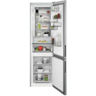 AEG RCB736E5MX alulfagyasztós kombi hűtőszekrény, NoFrost, A++, 201 cm